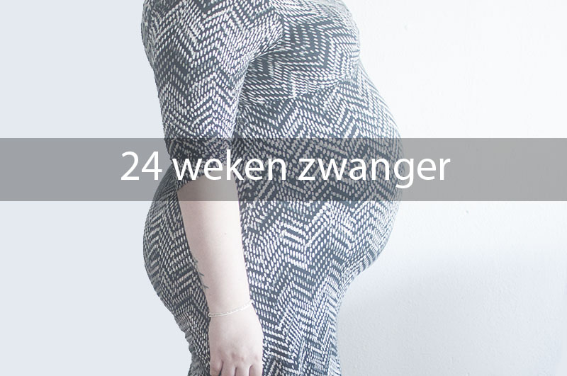 24 weken zwanger buik