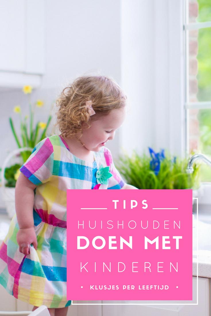 Huishouden samen met je kind(eren) doen? Dat kan heel eenvoudig met deze tips. Bekijk ook de lijst met klusjes per leeftijd. Zo weet je precies wat je je kinderen wel en niet kunt laten doen in het huishouden.