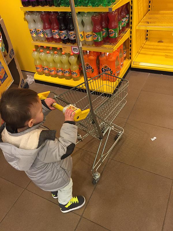 kinder-winkelwagen