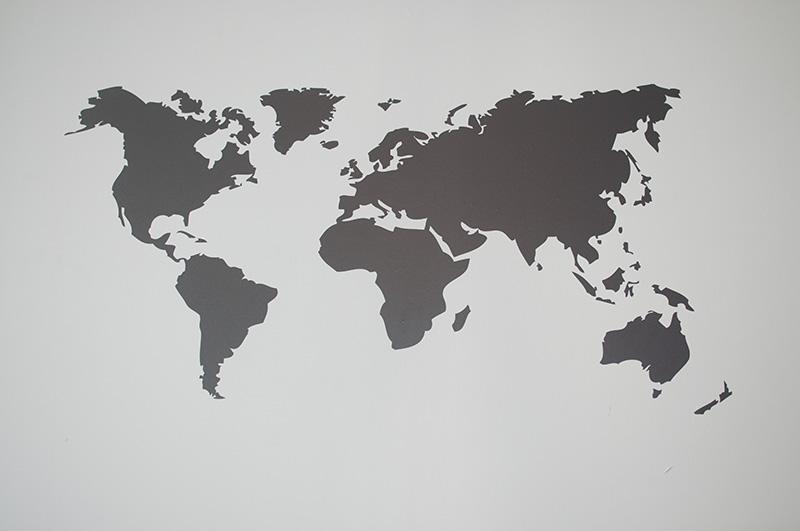 muursticker-wereldkaart